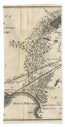 1785 Bocage Map Of Athens And Environs Including Piraeus In Ancient Greece Bath Towel