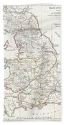 1794 Anville Map Of England In Ancient Roman Times Bath Towel