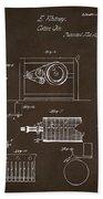 1794 Eli Whitney Cotton Gin Patent 2 Espresso Bath Towel