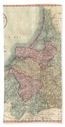1799 Cary Map Of Prussia And Lithuania  Bath Towel