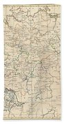 1799 Celement Cruttwell Map Of Germany Bath Towel