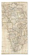 1799 Clement Cruttwell Map Of Africa  Bath Towel