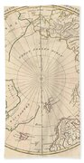 1799 Clement Cruttwell Map Of North Pole Bath Towel