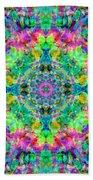 Rainbow Light Mandala Bath Towel