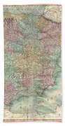 1801 Cary Map Of Spain And Portugal Bath Towel