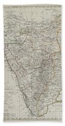 1804 German Edition Of The Rennel Map Of India Bath Towel