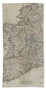 1804 Jeffreys And Kitchin Map Of Ireland Hand Towel