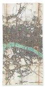 1806 Mogg Pocket Or Case Map Of London Bath Towel