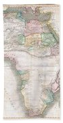 1813 Thomson Map Of Africa Bath Towel
