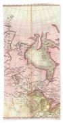 1818 Pinkerton Map Of British North America Or Canada Bath Towel