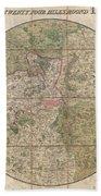 1820 Mogg Pocket Or Case Map Of London Bath Towel