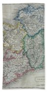 1822 Butler Map Of Ireland Bath Towel