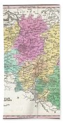 1827 Finley Map Of Belgium And Luxembourg Bath Towel
