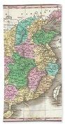 1827 Finley Map Of China  Bath Towel