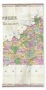 1827 Finley Map Of Kentucky Bath Towel
