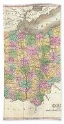 1827 Finley Map Of Ohio Bath Towel