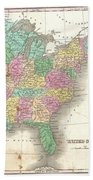 1827 Finley Map Of The United States Bath Towel