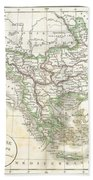 1832 Delamarche Map Of Greece And The Balkans Hand Towel
