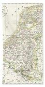 1832 Delamarche Map Of Holland And Belgium Bath Towel