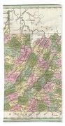1838 Bradford Map Of Virginia Hand Towel