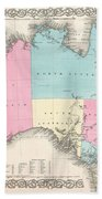 1855 Colton Map Of Australia Bath Towel