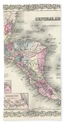 1855 Colton Map Of Central America And Jamaica Bath Towel