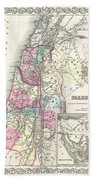 1855 Colton Map Of Israel Palestine Or The Holy Land Bath Towel