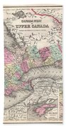 1857 Colton Map Of Ontario Canada Bath Towel
