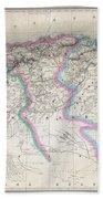 1857 Dufour Map Of Algeria Bath Towel