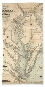 1862 Chesapeake Bay Map Mixed Media By Dan Sproul