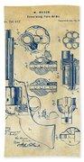 1875 Colt Peacemaker Revolver Patent Vintage Bath Towel