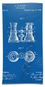 1882 Opera Glass Patent Artwork - Blueprint Bath Towel