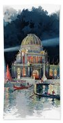 1890s Night In Grand Court Of World Bath Towel