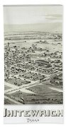 1891 Vintage Map Of Whitewright Texas Bath Towel