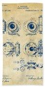1892 Barker Camera Shutter Patent Vintage Bath Towel