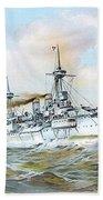 1895 - The Brandenburg Squadron At Sea - Color Bath Towel