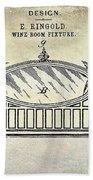 1895 Wine Room Fixture Design Patent Bath Towel