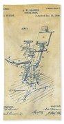 1896 Dental Chair Patent Vintage Bath Towel