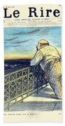 1897 - Le Rire Journal Humoristique Paraissant Le Samedi Magazine Cover - July 31 - Color Bath Towel
