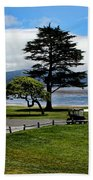 18th At Pebble Beach Panorama Bath Towel