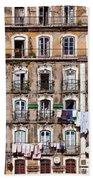 18th Century Building In Lisbon Bath Towel