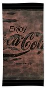 Coca Cola Sign Grungy Retro Style Bath Towel
