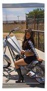 Models And Motorcycles Bath Towel