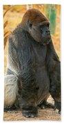 Western Lowland Gorilla Bath Towel