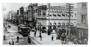 1900s Intersection Of Fair Oaks Hand Towel