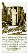 1903 - Columbia Motor Carriage Advertisement Bath Towel