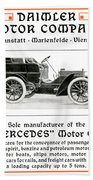 1904 - Daimler Motor Company Mercedes Advertisement - Color Hand Towel
