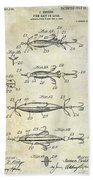 1907 Fishing Lure Patent Bath Towel