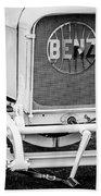 1908 Benz Prince Heinrich Two Seat Race Car Grille Emblem -1696bw Bath Towel