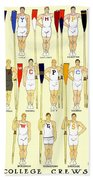 1910 - College Crew Poster - Rowing - Edward Penfield - Color Bath Towel